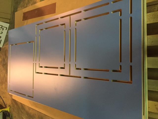 Cosntrucción elementos exposición Martí Anson.