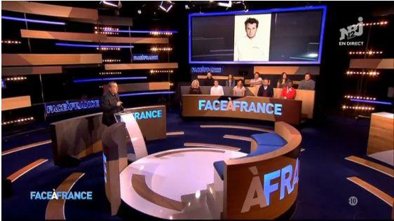 Escenografía para Face à France. Foto: www.programme-tv.net