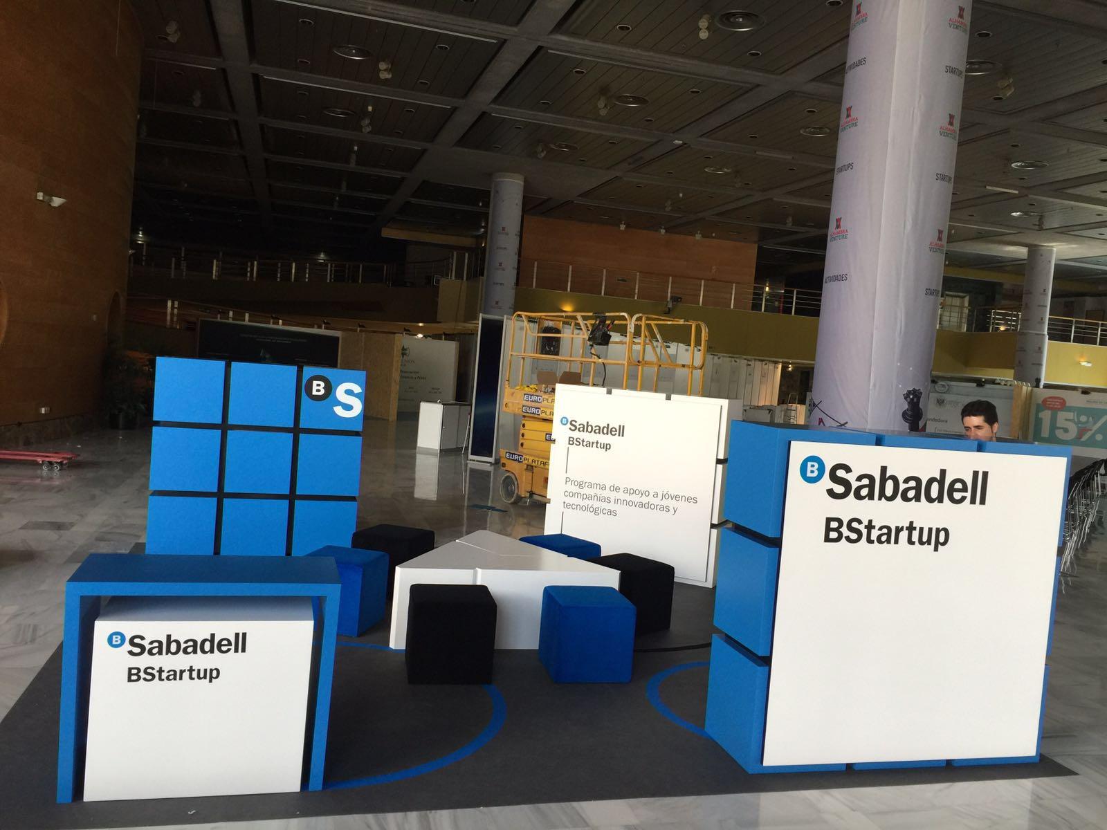 Stand banc Sabadell, Alahambra Venture.