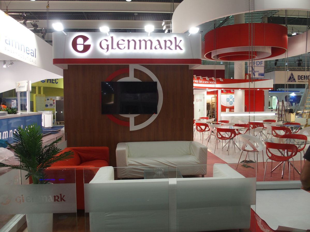 Stand Glenmark, feria CPhI Barcelona