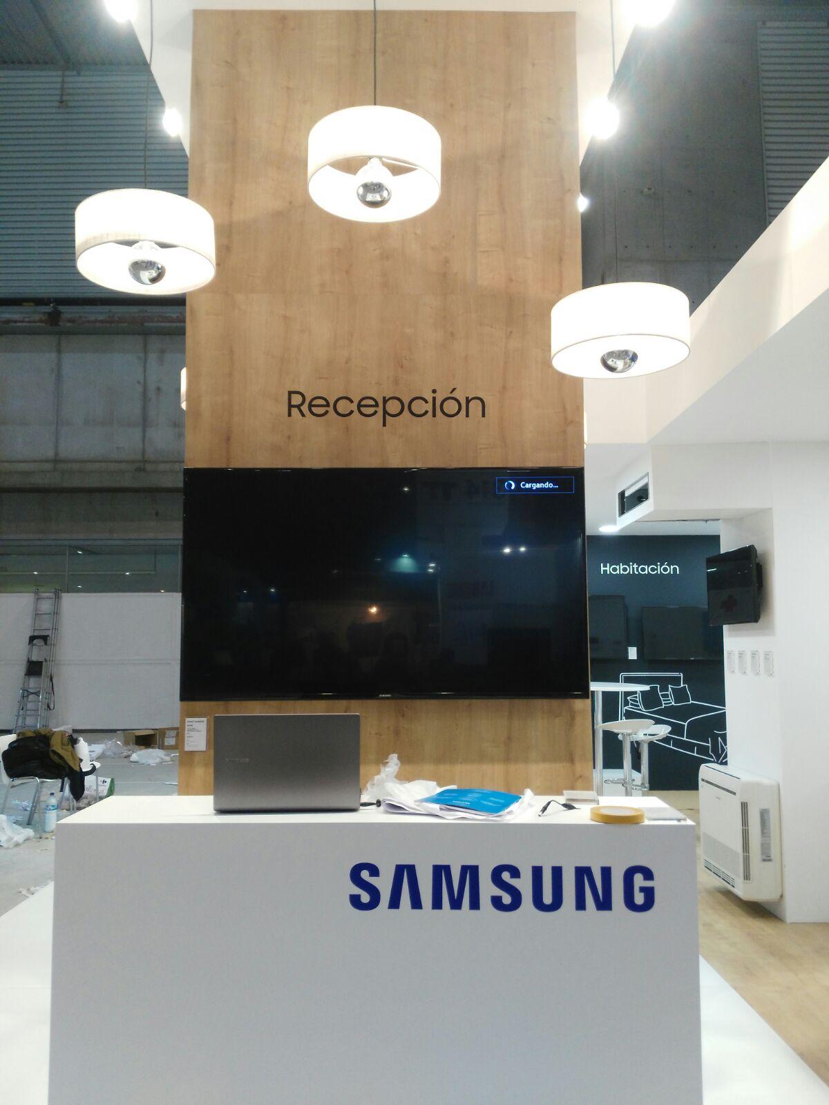 Stand Samsung, feria Hostelco.