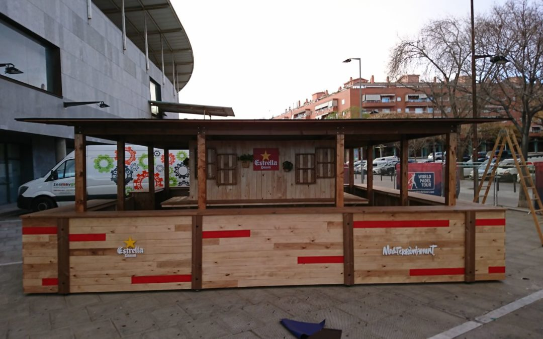 Project Estrella Damm for the World Padel Tour in Badalona