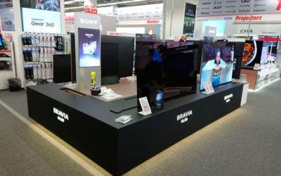 Mobiliario para Sony, presentación de SONY BRAVIA OLED