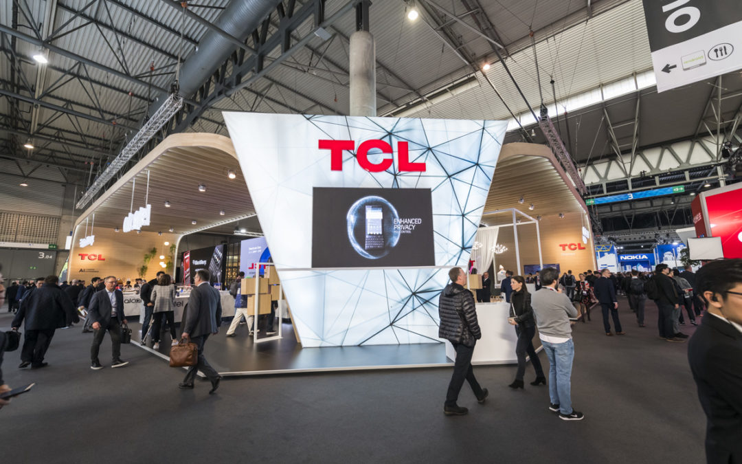 Stand for TCL at the MWC of Barcelona 2019