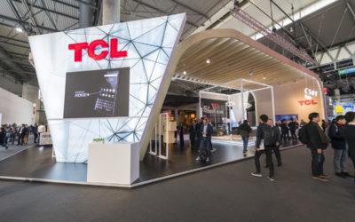 Stand para TCL en el MWC de Barcelona 2019